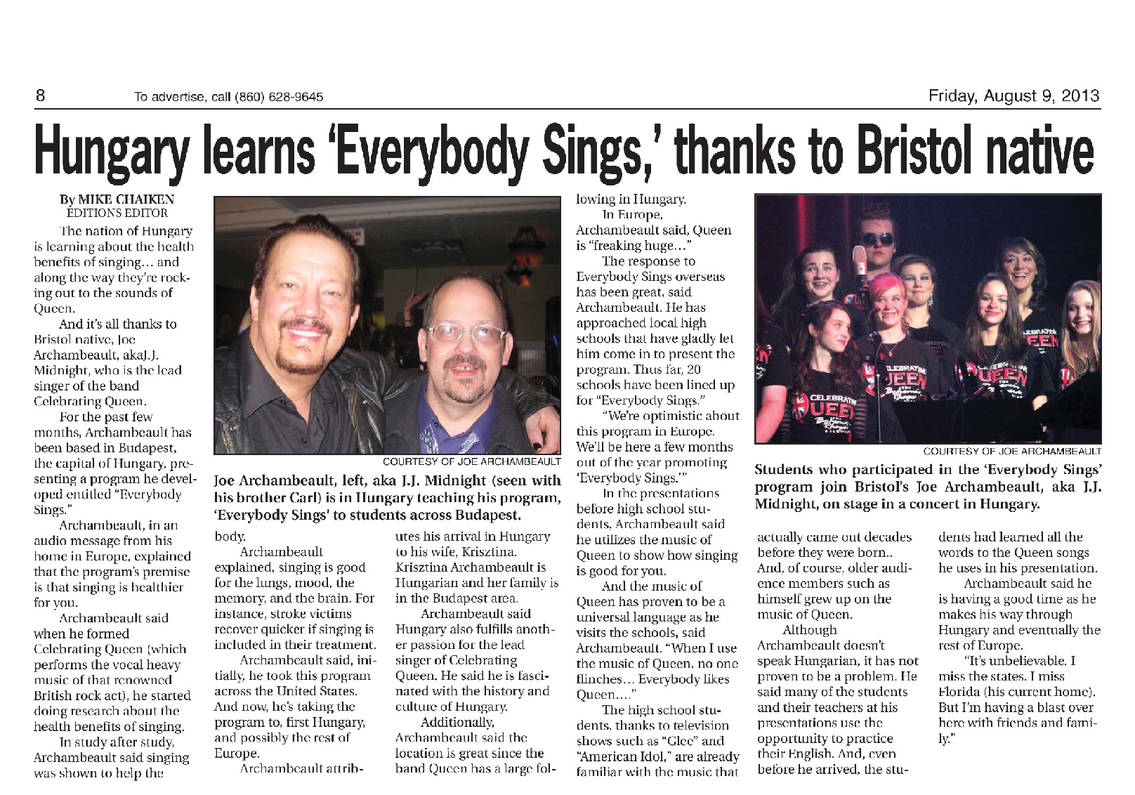 Everybody Sings Project News Clipping